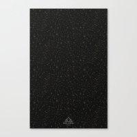 Trail Status / Technical Black Canvas Print