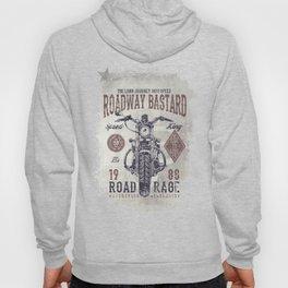 Vintage Motorcycle Poster Style Hoody
