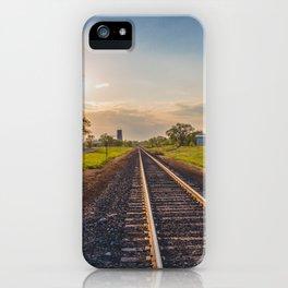 Railroad Tracks, Washburn, North Dakota 2 iPhone Case
