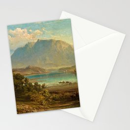 A view of Konigsee near Munich, Germany by Frederick Lee Bridell Stationery Cards