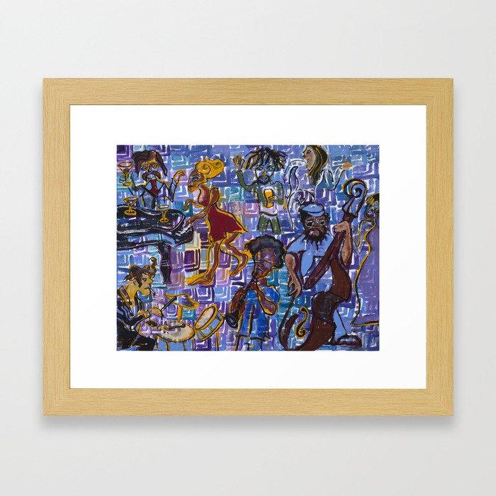 Jazz Squares Framed Art Print
