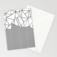 Ab Lines White Stationery Cards