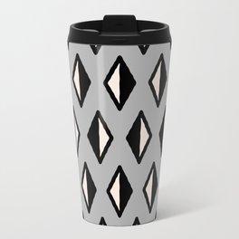 Diamond Pattern Grey Travel Mug
