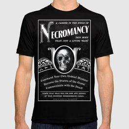 Faux School of Necromancy Recruitment Poster T-shirt
