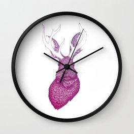 Ombre Jackalope Wall Clock
