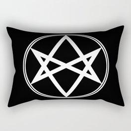 Men of Letters Symbol White Rectangular Pillow