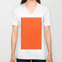 giants V-neck T-shirts featuring Giants orange by List of colors