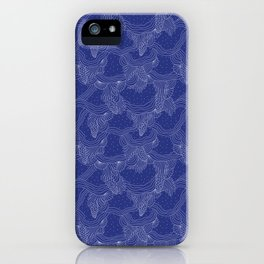 Simple Holiday Blues iPhone Case