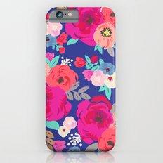 Sweet Pea Floral Blue Slim Case iPhone 6