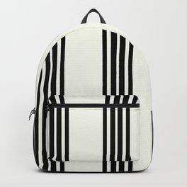 Simply Black White Stripe Backpack