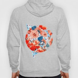 Geometric Flowers and Bees Hoody