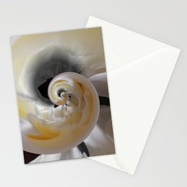 silken whirl abstract 3d digital painting Stationery Cards