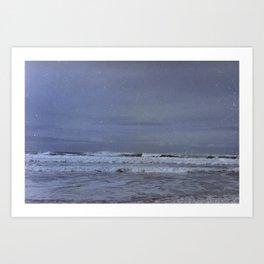 Waves along the Oregon Coast Art Print
