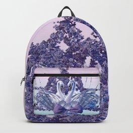 romantic swan couple Backpack