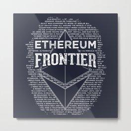 Ethereum Frontier Metal Print