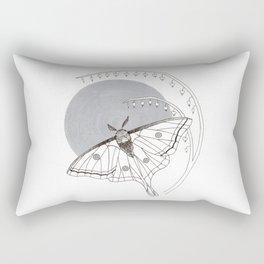 Moon Moth & Bleeding Heart Rectangular Pillow