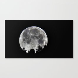 Palm Springs Moon above Tramway Canvas Print