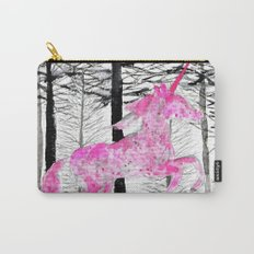 Pink unicorn in the wood Carry-All Pouch