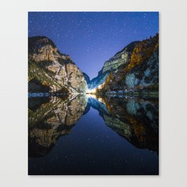 Reflection in the Night Canvas Print