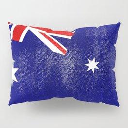 Australian Distressed Halftone Denim Flag Pillow Sham