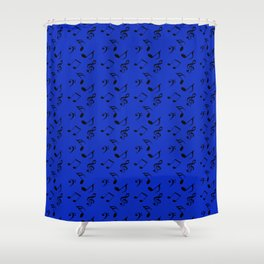 royal blue music Shower Curtain