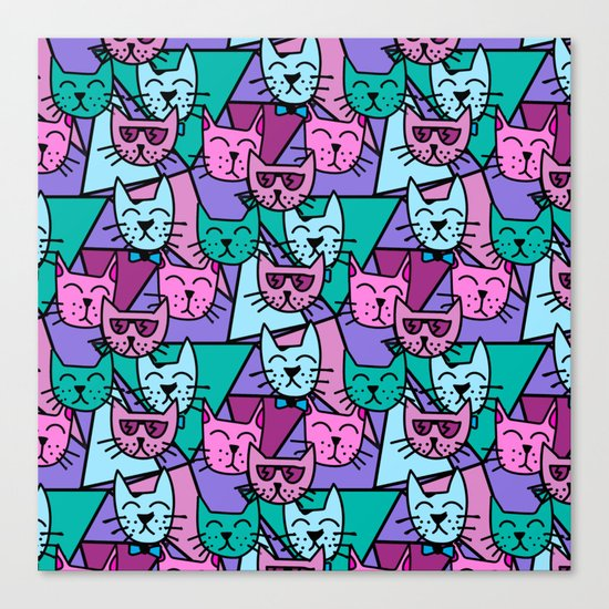 Pop Art Cats Canvas Print