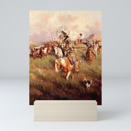 """Ever Westward"" by Frank Tenney Johnson Mini Art Print"
