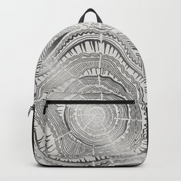Growth Rings – 65 Years – Silver Backpack