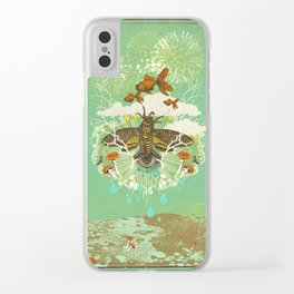 EVENING PSYCHEDELIA Clear iPhone Case
