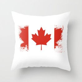 Canada Design Canadian Flag Image  Vintage Distressed Flag Throw Pillow