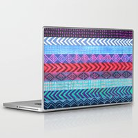 peru Laptop & iPad Skins featuring PATTERN {Peru Stripe} by Schatzi Brown