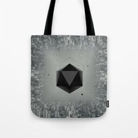 xbox Tote Bags featuring City Intruder by Zavu