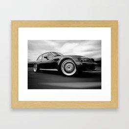 B&W M Coupe Rig Shot Framed Art Print