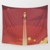 danny haas Wall Tapestries featuring Atomic Sky by Danny Haas