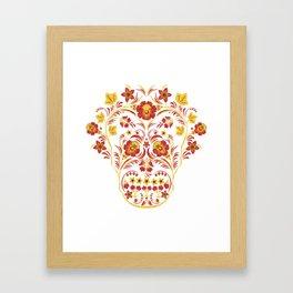 Skull Khokhloma Framed Art Print
