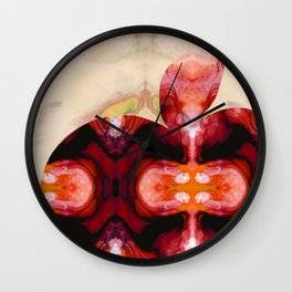 A Good Apple - Fruit Art By Sharon Cummings Wall Clock
