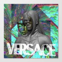 versace Canvas Prints featuring Versace by Panama Prince