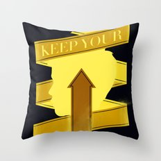 Keep Your Head Up. Throw Pillow