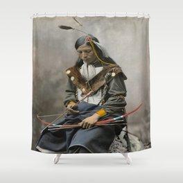 Bone Necklace Council Chief 1899 Shower Curtain