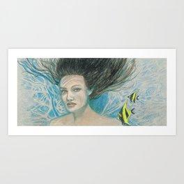 Mermaid Hair Art Print