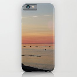 Kayak and the Sunset iPhone Case