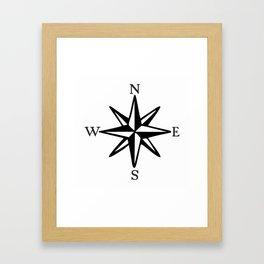 Compass Rose NOSW (Monochrome) Framed Art Print