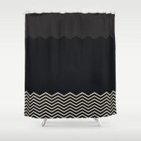 chevron Shower Curtains featuring Chevron by Georgiana Paraschiv