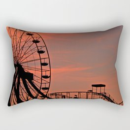 Sundown in Fun Town Rectangular Pillow