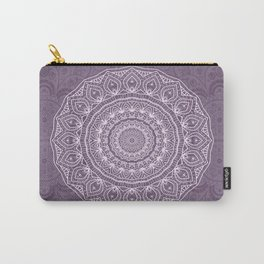 White Lace on Lavender Carry-All Pouch