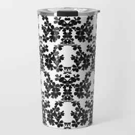 primrose bw pattern Travel Mug