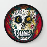 tequila Wall Clocks featuring Tequila by Jorge Garza