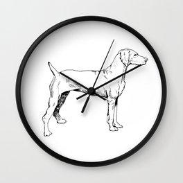 Viszla Dog Ink Drawing Wall Clock