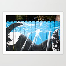 Humpback Fence Art Print