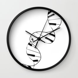 DNA Piano Wall Clock